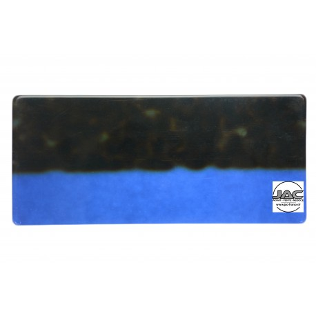 Ecailles Marron sur transparent Bleu