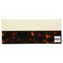 Ecailles Marron avec placage Blanc - 0032EC