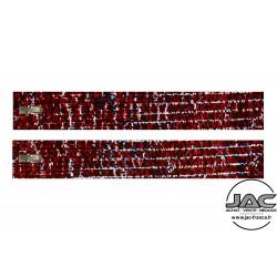 Branches Damier Rouge et Bleu - 0008DAB