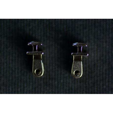 Charnières à incruster 3 charnons 5,0mm / 6°