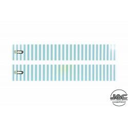 Rayures Bleu et écaille - 0016RA